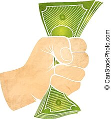 fist with money