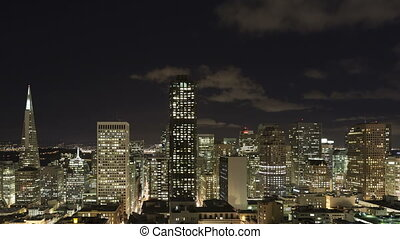 Time lapse zoom out San Francisco - Time lapse zoom out of...