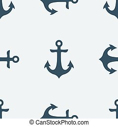 Nautical Anchor vector - Nautical blue metal anchor...