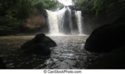 Haew Su Wat Waterfall tropical forest, Khao Yai National...