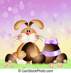 Easter bunny - illustration of Easter bunny