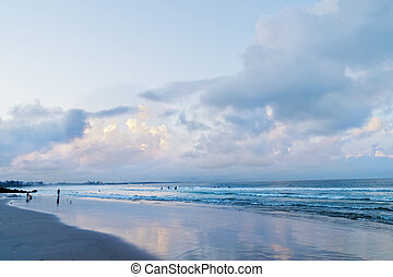 Main beach in Byron Bay after sunset in Australia