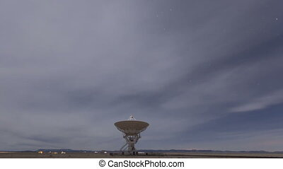 Time lapse Very Large Array Radio Telescopes dish alignment...