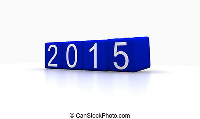 new year - dice with new year 2016