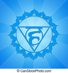 Throat Chakra - illustration of Throat Chakra symbol