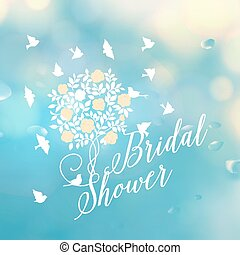 Bridal shower template. - Bridal shower template card. Text...