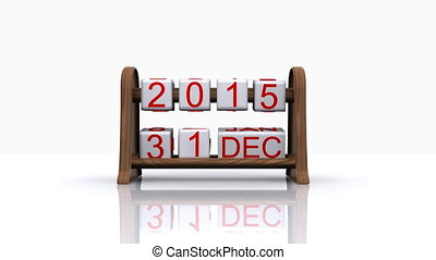 new year 2016 - 3D animated video - comes the new year 2016