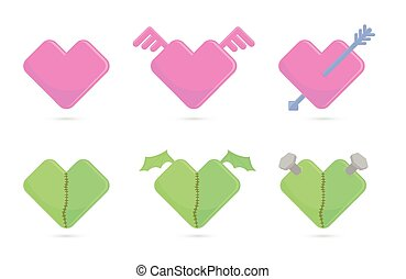 Vector illustration of hearts for St Valentines day - Vector...