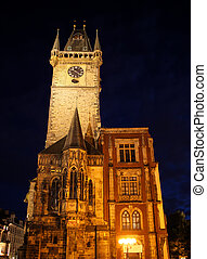 Prague Old Town Hall 01 - Tower of Old Town Hall in Prague,...