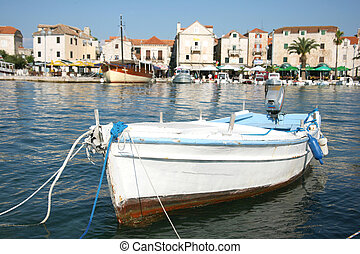 Fishing boat - Traditional fishing boat in the harbour of...