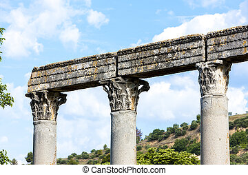close up of Roman Temple, Riez, Provence-Alpes-Cote d'Azur,...