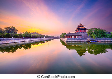 Forbidden City moat in Beijing - Beijing, China forbidden...