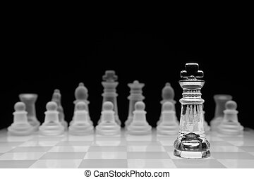 Chess concept, isolated on black