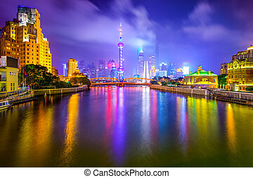 Shanghai, China City Skyline - Shanghai, China view of the...