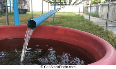 Plastic Pipe Drain The Water, stock video