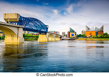 Chattanooga, Tennessee, USA downtown city skyline.