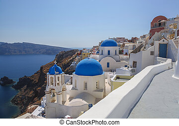 Oia village in Santorini island, Greece