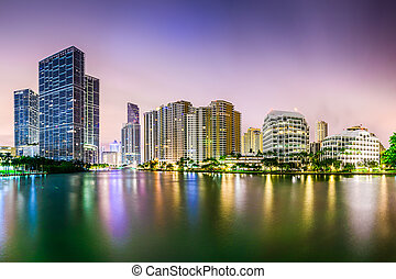 Miami Florida Cityscape - Miami, Florida city skyline.