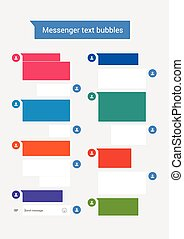 Messenger text bubbles - Vector illustration of Messenger...