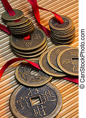 Antique Chinese Coins - China - Antique Chinese coins in a...