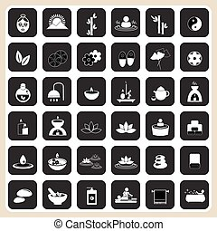 Set of spa and massage icons for design eps 10