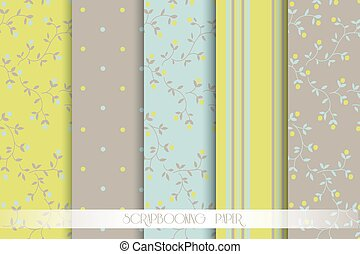Vector Collection of Bright and Colorful Backgrounds or...