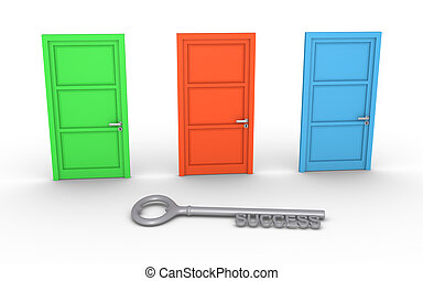 Choose door for success