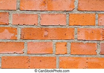Closeup of bricks wall - Photo shows a detailed closeup of...