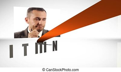 The way to success - Successful businessman montage