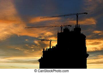 建設, 黑色半面畫像