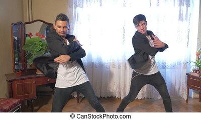 Young break dancers