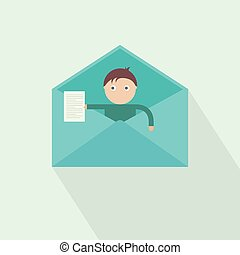 You have got mail. new message. vector