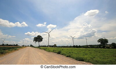 Big wind turbine - Set collection montage, Big wind turbine,...