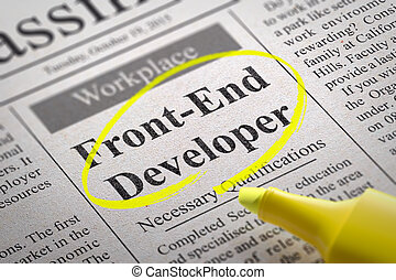 Front-End Developer Vacancy in Newspaper. - Front-End...