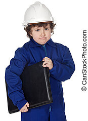Adorable future builder gotten upset with folder a over...