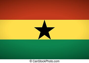 Flag of Ghana. Vector illustration.