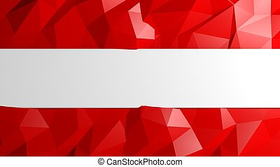Abstract red low poly background with copy-space