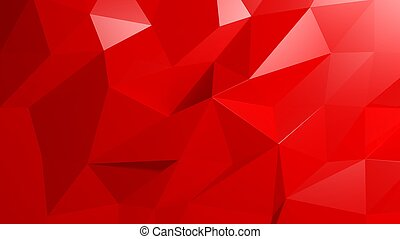 Abstract red low poly background