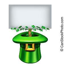 StPatricks Day Sign - StPatricks day blank sign with a green...