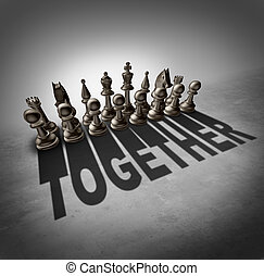 Together Concept - Together concept and team effort symbol...