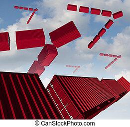 Cargo Air Shipping - Cargo air shipping concept as a group...