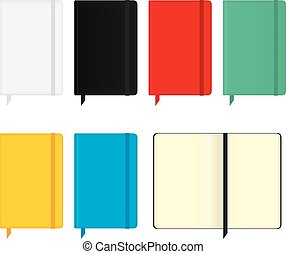 moleskine notebooks - Set of six notebooks, in different...
