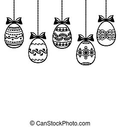 Easter background with decorative egg