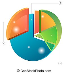 3d Overlapping Pie Chart