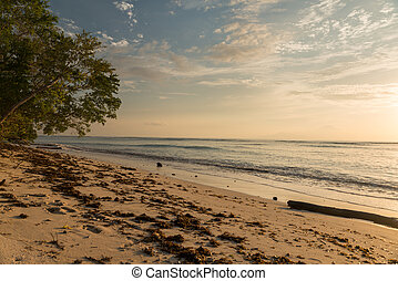 Gili Trawangan beach - Sunset view of beach at Gili...
