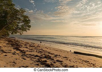 Gili Trawangan beach - Sunset view of beach at Gili...