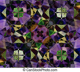Ethnic pattern Abstract kaleidoscope fabric design texture