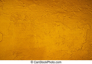 Yellow gold texture background on the back of buddha statue...
