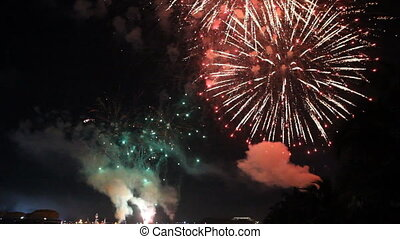 Beautiful celebration fireworks