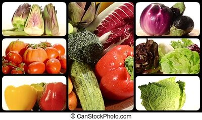 fresh vegetables composition on a white background